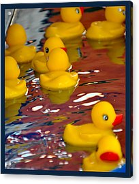 Rubber Duckies Acrylic Print