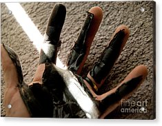 Acrylic Print featuring the photograph Rubber Hand by Micah May