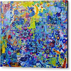 Rube Goldberg Abstract Acrylic Print by Regina Valluzzi