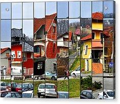 Rubik's Town Acrylic Print