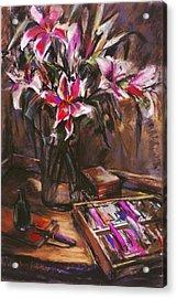 Rubirosa Lilies Acrylic Print