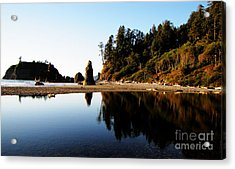 Ruby Beach Reflections Acrylic Print
