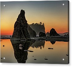 Ruby Beach At Sunset Acrylic Print