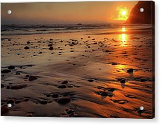 Ruby Beach Sunset Acrylic Print by David Chandler