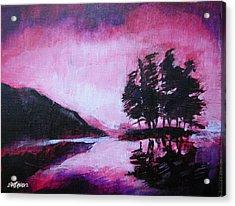 Ruby Dawn Acrylic Print by Seth Weaver