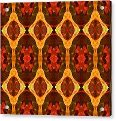 Ruby Glow Pattern Acrylic Print by Amy Vangsgard