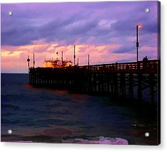 Acrylic Print featuring the digital art Ruby's At Dawn by Timothy Bulone