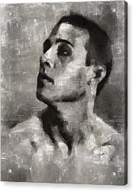 Rudolph Valentino, Vintage Actor Acrylic Print by Mary Bassett