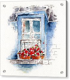 Rue Bernardine Window Acrylic Print by Pat Katz