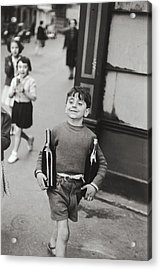 Rue Mouffetard By H. Cartier Bresson Acrylic Print by Hans Wolfgang Muller Leg