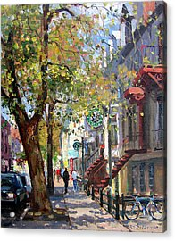 Rue St Denis Montreal Acrylic Print by Roelof Rossouw