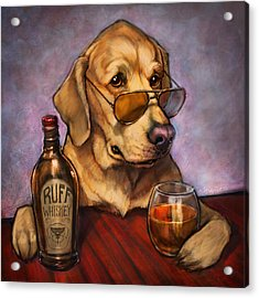 Ruff Whiskey Acrylic Print by Sean ODaniels