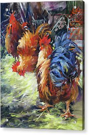Ruffled Feathers Acrylic Print by Rae Andrews