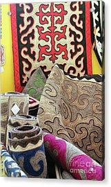 Rug Sale Acrylic Print by Alycia Christine