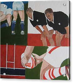 Rugby 2 Acrylic Print by Pat Barker