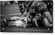 Rugby Acrylic Print by Cesar March