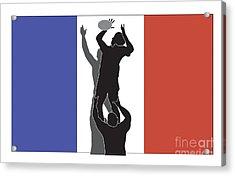 Rugby France Acrylic Print by Aloysius Patrimonio