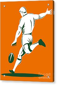 Rugby Player Kicking Acrylic Print