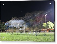 Rugby Training Acrylic Print by Stacy Spencer-Barclay