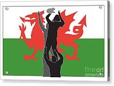 Rugby Wales Acrylic Print by Aloysius Patrimonio