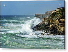 Acrylic Print featuring the photograph Rugged Coastal Seascape by Marion McCristall