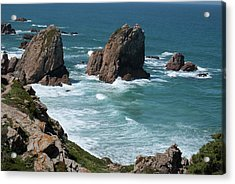 Rugged Coastline - Portugal Acrylic Print by Connie Sue White