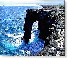 Acrylic Print featuring the photograph Rugged Kona Sea Arch by Amy McDaniel