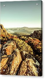 Rugged Mountaintops To Regional Valleys Acrylic Print