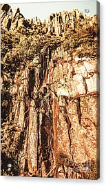 Rugged Vertical Cliff Face Acrylic Print