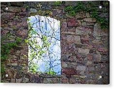 Acrylic Print featuring the photograph Ruin Of A Window - Bridgetown Millhouse  Bucks County Pa by Bill Cannon