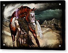 Ruined Empires - Skin Horse  Acrylic Print by Mandem