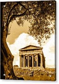 Ruins Of Ancient Agrigento Acrylic Print by Mark E Tisdale