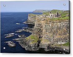Ruins Of Dunluce Castle On The Sea Cliffs Of Northern Ireland Acrylic Print by Pierre Leclerc Photography