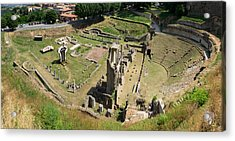 Ruins Of Roman Theater, Volterra Acrylic Print by Panoramic Images