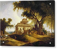 Ruins Of The Naurattan Acrylic Print by Thomas Daniell