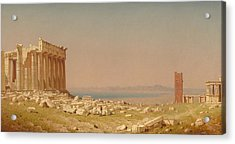 Ruins Of The Parthenon Acrylic Print by Sanford Robinson Gifford