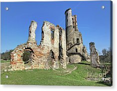 Acrylic Print featuring the photograph Ruins Of Zviretice Castle by Michal Boubin