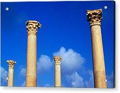 Ruins Roman Columns At Timgad Acrylic Print