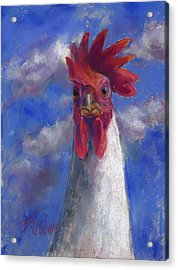 Acrylic Print featuring the pastel Ruler Of The Roost by Billie Colson