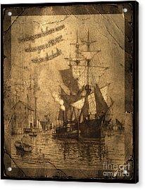 Rum Is The Reason Acrylic Print by John Stephens