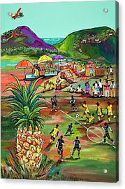 Acrylic Print featuring the painting Rum With The Pineapple by Patti Schermerhorn