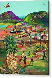 Rum With The Pineapple Acrylic Print by Patti Schermerhorn