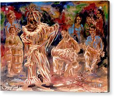 Rumba Abakua Acrylic Print by Samuel Lind