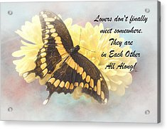 Rumi Quote- 10 Acrylic Print by Rudy Umans