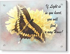 Rumi Quote-7 Acrylic Print by Rudy Umans