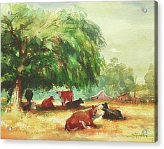 Acrylic Print featuring the painting Rumination by Steve Henderson