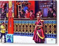 Rumtek Monastery Festival Acrylic Print by Steve Harrington