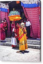 Rumtek Monastery Procession Acrylic Print by Steve Harrington