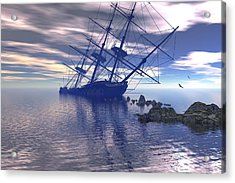 Acrylic Print featuring the digital art Run Aground by Claude McCoy