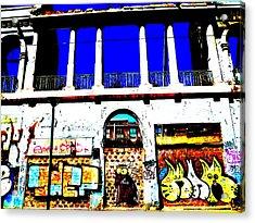 Run Down Valparaiso Buildings Acrylic Print by Funkpix Photo Hunter
